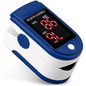 Saturimetro da Dito Ossimetro Professionale Pulsossimetro da Dito Monitor di Saturazione di Ossigeno nel Sangue (SpO2) con PR (Frequenza del Polso), PI (Indice di Perfusione) con Allarme, Display OLED