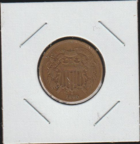 1865 Shield Two Cent (1864-1873) Two-Cent Choice Fine Details