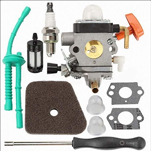 CIVIKY Kit de Filtro de Combustible de Aire de carburador Aftermarket para Stihl FS87 FS90 R FS100 FS110 FS130 R FC 90 95100 HL100 KM90 KM100 Trimmers Filtro de Aire + bujía-2 Piezas