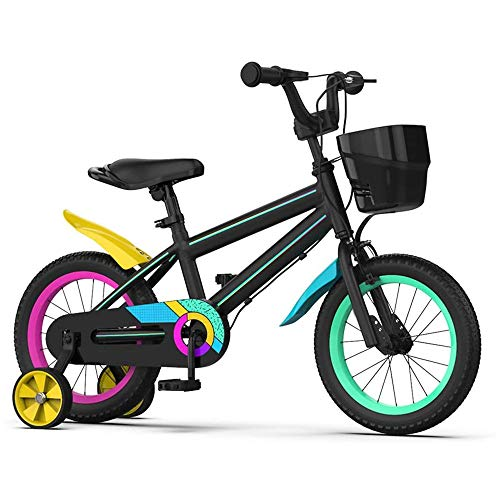 Great Features Of Kids Bike for Boys and Girls Green, Kids Sporty Bicycle, Bicycle with Training Whe...