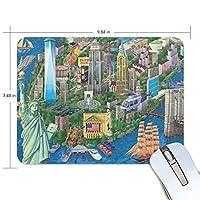 マウスパッド ニューヨーク 自由の女神像 ゲーミングマウスパッド 滑り止め 19 X 25 厚い 耐久性に優れ おしゃれ