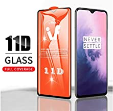 Jump Start Oneplus 7 Tempered Glass Screen Protector 11D High-Definition Full Coverage (Black) Anti-Scratch [Anti-Fingerprint] 11D for OnePlus 7 Launch
