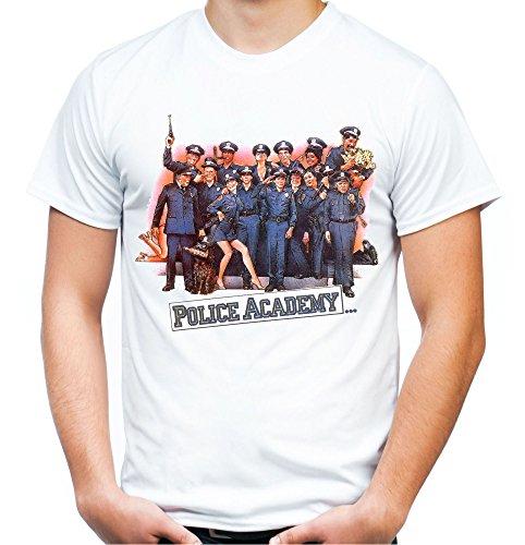 Police Academy Männer und Herren T-Shirt   Film Fun     (L, Weiß)