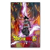 Dibujos Animados clásicos Anime Dragon Ball Z Super Character Goku Poster Comic Canvas Painting Wall Picture Nursery Kids Room Dormitorio 60 * 100cm