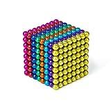 BANBBY 256個 5mm 磁石 立体パズル マグネットボール おもちゃセット (8 カラー)