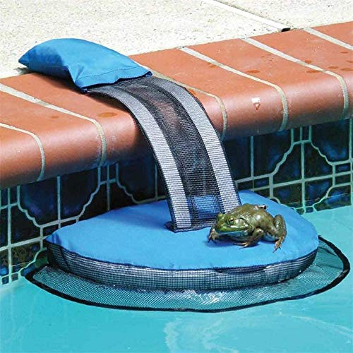 CLX Critter Pool Escape-Net, Swimming-Pool Tierrettende Flucht Rampe, Critter Rescue Dog Pool Exit-Net Leiter Für Pools Critters Pool Easy Setup Tier,Blau