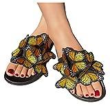 Sandals for Women Dressy,Women's Bohemia Rainbow Platform Sandals Flat Gladiator Sandals Dress Shoes