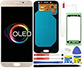 iFixmate LCD Screen Replacement for Samsung Galaxy J7 Pro (AMOLED-Gold) with Touch Digitizer Display Assembly for J730 2017 J730G J730F SM-J730F/DS J730FM/DSM J730G/DS J730GM/DS