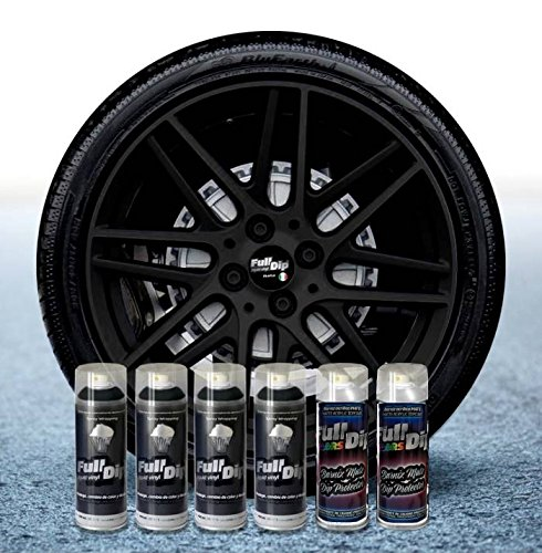Sophisticauto Full Dip Packs Ahorro Llantas 6 Sprays Negro Mate