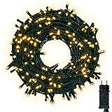 Lichterkette 30M 300 LEDs Warmweiß, LED Lichterkette 8 Modi Dimmbar mit Speicher Funktion, Lichterkette Außen IP44 Wasserdicht für Schlafzimmer Balkon Garten Hochzeit Party Weihnachtsdeko