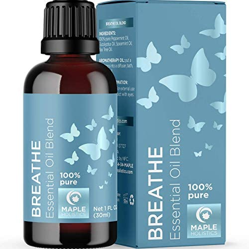 Breathe Blend Essential Oil for Diffuser Breathe Essential Oil Blend with Eucalyptus Peppermint product image