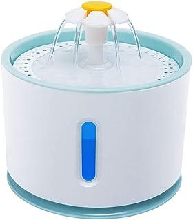 Fuente de agua eléctrica XuBa LED para mascotas, perros, gatos, beber, azul