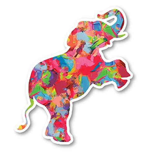 Elephant Standing Sticker Watercolor Paint Stickers - Laptop Stickers - 2.5' Vinyl Decal - Laptop, Phone, Tablet Vinyl Decal Sticker S1235