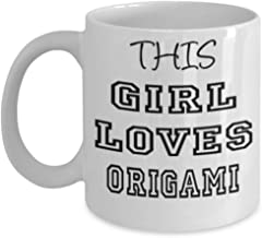 Funny Origami Gifts 11oz Coffee Mug - This Girl Loves - Best Inspirational Gifts and Sarcasm ak6211