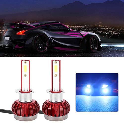 Auto LED, 2pcs Bombilla LED Faros delanteros Lámpara automática C7 H1 6000K 6000LM 9V-36V