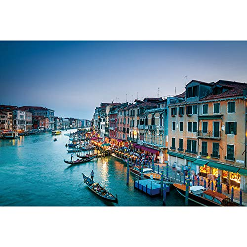 Jigsaw Puzzle Water Venice 1000pcs Color Picture Children's Puzzle Game with Jigsaw Glue and Divider Board Best Gift for Adults and Boys Over 3 Years Old