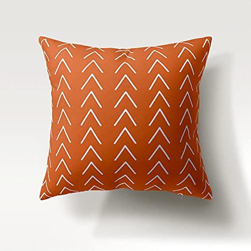 Fundas de Cojín 45 X 45 CM Fundas Cojines Decorativos para Sofa Funda de Almohada Cuadrado Triángulo Blanco Naranja para Sofá Cama Coche Decoración para Hogar