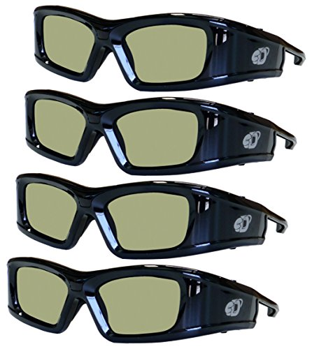 4 Pack eDimensional Rechargeable 3D Glasses Compatible with Samsung 2011-16 Bluetooth 3D TV's