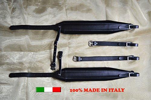 Gurte für Akkordeon Akkordeongurte Akkordeonriemen 8 CM DELUXE 100% italienische Produktion