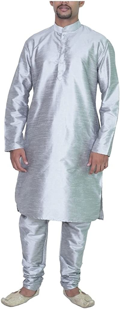 ROYAL All items free shipping Kurta All stores are sold Men's Amg Silver Pyjama Silk 44