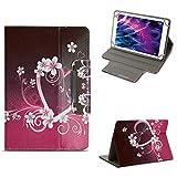 NAUC Tablet Tasche für Medion Lifetab E10604 E10412 E10511 E10513 E10501 Hülle Schutzhülle Case Schutz Cover, Farben:Motiv 7