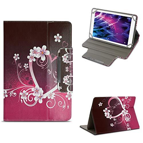 NAUC Tablet Tasche für Medion Lifetab P10603 P10606 P10602 X10605 X10607 X10311 X10302 X10301 P10400 P10506 Hülle Schutzhülle Case Cover Stand, Farben:Motiv 7