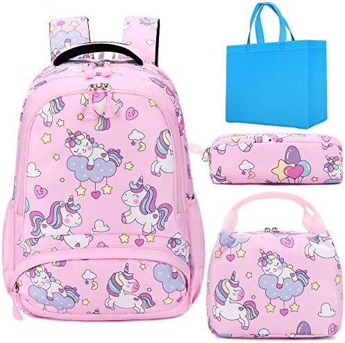 Girls School Backpacks for Kids School Bookbag 3 in 1 Unicorn Backpack Set for Girls School product image