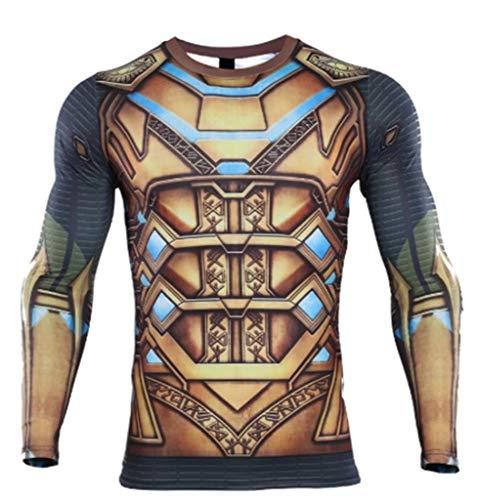 New Movie T-Shirt de Compression Superhéros Manches Longues - - Large