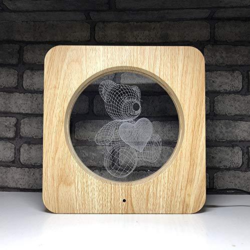 Veilleuse Enfant 3D Led Lumière De Nuit 3D Oursons En Trois Dimensions Chambre Atmosphère Lampe Créative Produits Coloré Lampe De Table