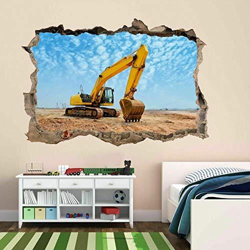 SYYUN Pegatinas dePared Excavadora Máquina deconstrucciónEtiqueta de la pared Mural Decal Wallpaper BF6 60 X 90 CM