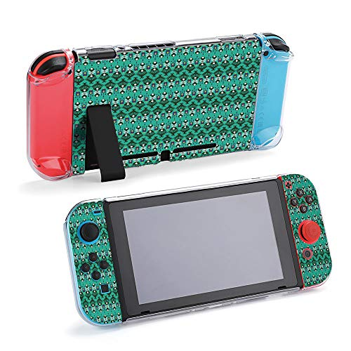SUPNON Switch Case Compatible with Nintendo Switch Games Protective Hard Carrying Cover Case for Nintendo Switch Console Joy Con Controlle - Ikat Seamless Pattern As Cloth, Curtain, Design39140