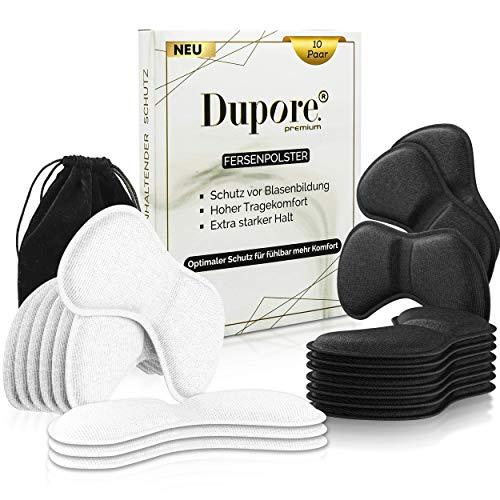 20x DUPORE Premium Fersenpolster - Innovativer Fersenschutz - Selbstklebende Fersenkissen - Hoher Komfort und Schutz vor Blasen und Reibung - Fersensporn - Fersenhalter für zu große Schuhe