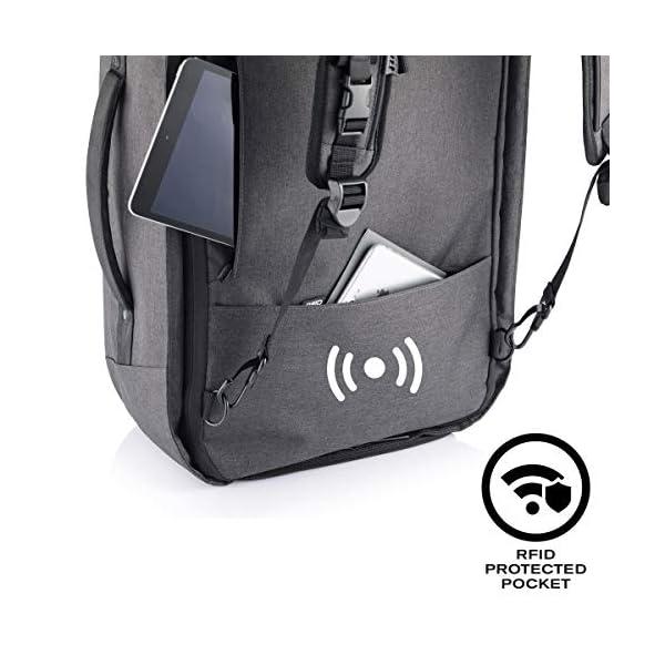 "51yr7e94JAL. SS600  - XDDesign Swiss Peak 17"" Outdoor Laptop Rucksack, Schwarz - Luggage- Footlocker Unisex"