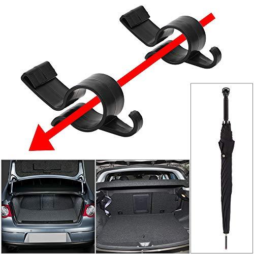 iTimo 2 Stück/Set Heckklappen-Halterung für Auto, Regenschirmhalter für Regenschirm, Aufhang-Haken, Handtuchhaken, für Kofferraum, Organizer