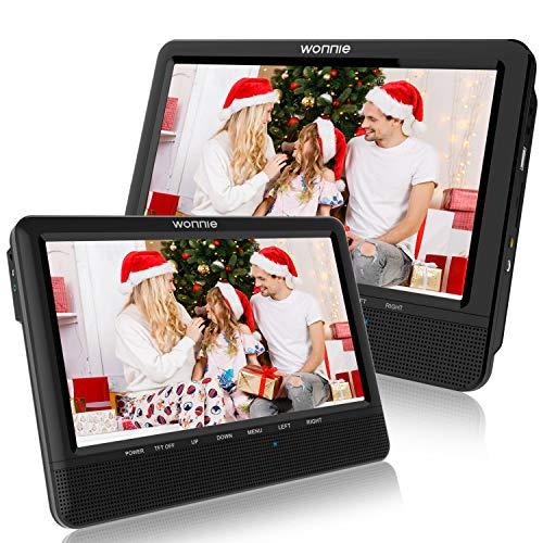 WONNIE Lecteur DVD Portable Voiture 10.1' Double Affichage 4 Heures Support de Moniteur pour...