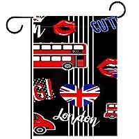 庭の装飾の屋外の印の庭の旗の飾りロンドンのパターン テラスの鉢植えのデッキのため
