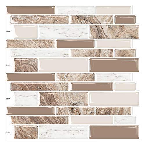 Cocotik Pegatinas de pared para azulejos de cocina, 30,48 x 30,48 cm, 10 hojas (A2002)