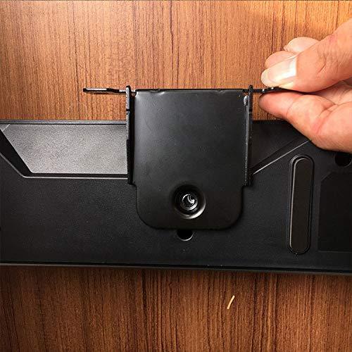 2 Paquetes Durable Metal Soportes para Altavoces Altavoz Home Cinema Equipos de Audio Accesorios YUHUA ELE Soporte de Pared para LG SK8 Barra de Sonido