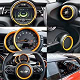 LVBAO Kit Completo Tacómetro Centro Display Volante Ventilación Marco Funda para Mini Cooper One S JCW F Series Clubman Countryman Hardtop Hatchback