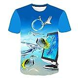 Camiseta Estampada En 3D - Camiseta De Moda Fresca Para Hombres Y Mujeres Estampado De Pescado Ornamental 3D Camiseta Tops Verano Camisetas De Manga Corta Camisetas Masculinas Camisetas Casuales P