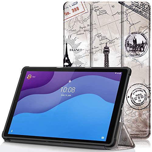 TTVie Case for Lenovo Tab M10 HD (2nd Gen) - Ultra Slim Lightweight Smart Shell Stand Cover with Auto Wake/Sleep Function for Lenovo Tab M10 HD (2nd Gen) 10.1 Inch Tablet 2020 Release, TPU Tower