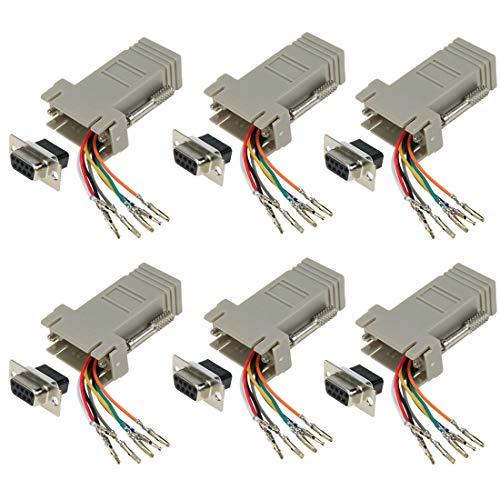 Dahszhi DB9 Ethernet Adapter, DB9 to RJ45 Modular Adapter, F/F