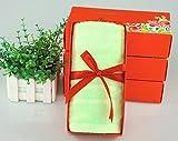 ZHFC Fibra toalla de la boda casamiento cumpleaños volver año actividades practicas regalo set de regalo 75x34cm 1.,Color solido