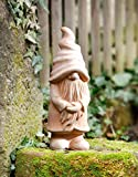 Dekoleidenschaft Gartenzwerg Väterchen aus Terracotta in schönem Naturton, 42 cm hoch, Gartendeko, Gartenfigur