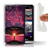 Hülle Für BlackBerry Z30 Christliche Bibel Vers Love is Patient/Corinthians Design Transparent Dünn Weich Silikon Gel/TPU Schutz Handyhülle Case