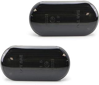 2Pcs LED Side Marker Signal Light, GZCRDZ Dynamic Smoked Side Indicator Lamp Bulbs for VW Bora Golf Passat Sharan/Ford C-M...
