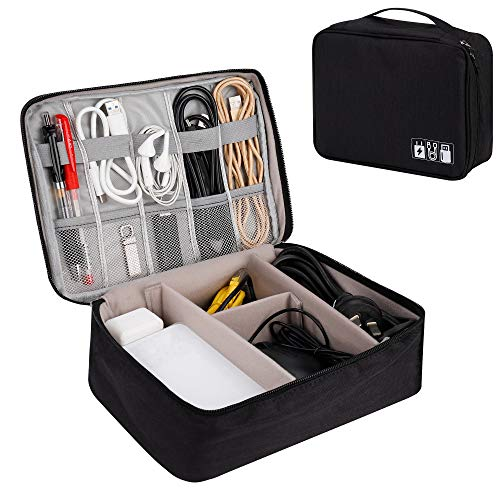 Cable Organizer Bag Large Electronics Accessories Organizer Case Universal Carry Travel Gadget...