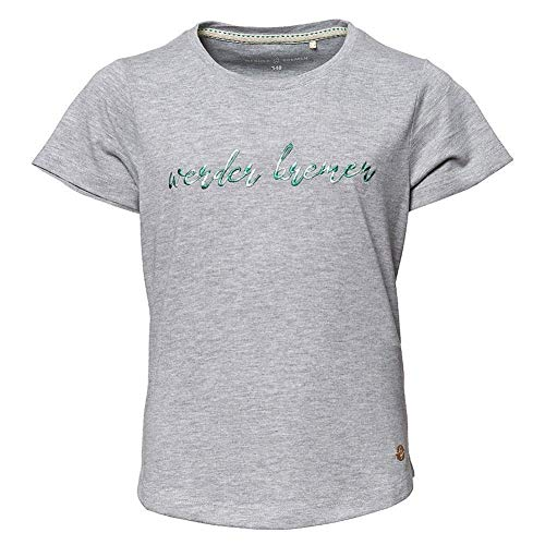 Werder Bremen Camiseta para niña (140, gris jaspeado)