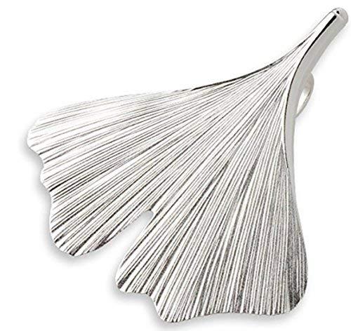Quality4You Ginkgo-Schmuck: Großer Ginkgo-Blatt-Anhänger mit Silberkette handgemacht aus 925 Silber, Verschiedene Längen (41-48 cm)