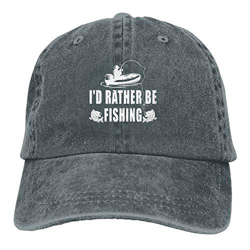 AINCIY Prefiero Estar pescando el Sombrero de Mezclilla Ajus